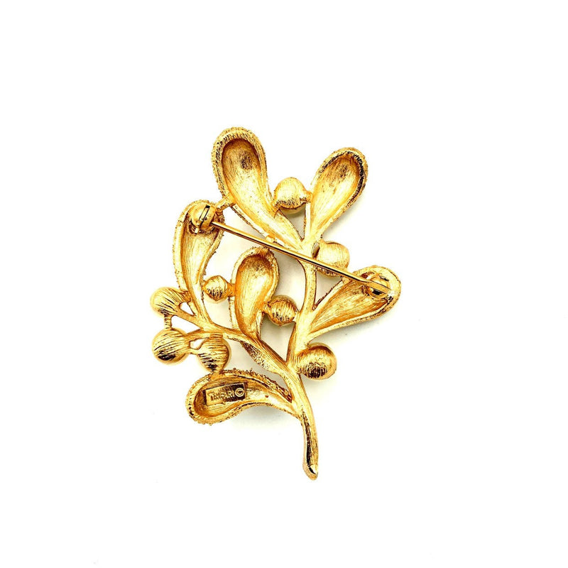 update alt-text with template Gold Crown Trifari Organic Flower Pearl Vintage Brooch-Brooches & Pins-Trifari-[trending designer jewelry]-[trifari jewelry]-[Sustainable Fashion]