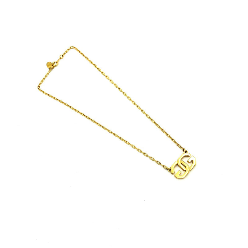 Givenchy Double G Logo Vintage Pendant-Necklaces & Pendants-Givenchy-[trending designer jewelry]-[givenchy jewelry]-[Sustainable Fashion]