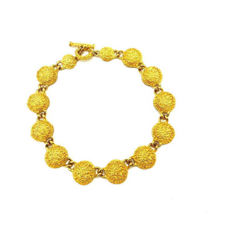 Classic Gold Chunky Circle Link Carlisle Vintage Necklace