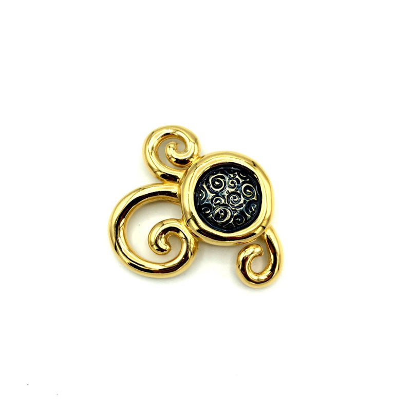 Givenchy Gold Swirl Abstract Vintage Brooch Pin