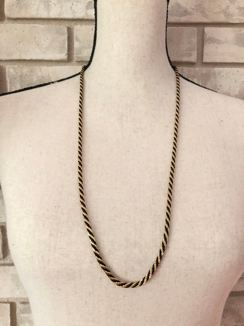 update alt-text with template Napier Black & Gold Long Vintage Layering Chain Necklace-Necklaces & Pendants-24 Wishes-[trending designer jewelry]-[napier jewelry]-[Sustainable Fashion]