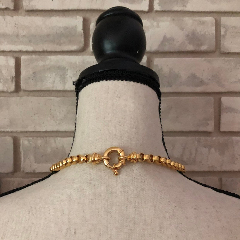 Classic Gold Link Chain Vintage Layering Necklace-Sustainable Fashion with Vintage Style-Trending Designer Fashion-24 Wishes