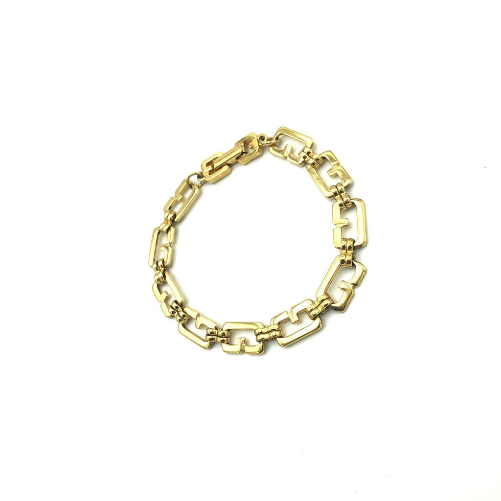 Givenchy Gold G Logo Stacking Chain Bracelet