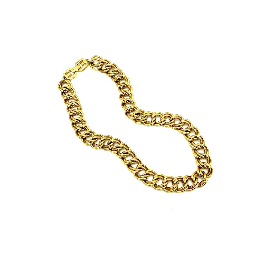 Givenchy Gold Double Link Stacking Chain Necklace