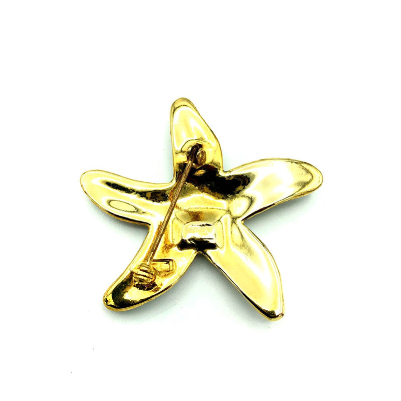 Pave Rhinestone Starfish Vintage Brooch-Sustainable Fashion with Vintage Style-Trending Designer Fashion-24 Wishes