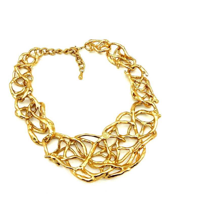 Elizabeth Taylor Treasured Vines Gold Statement Pendant-Sustainable Fashion with Vintage Style-Trending Designer Fashion-24 Wishes