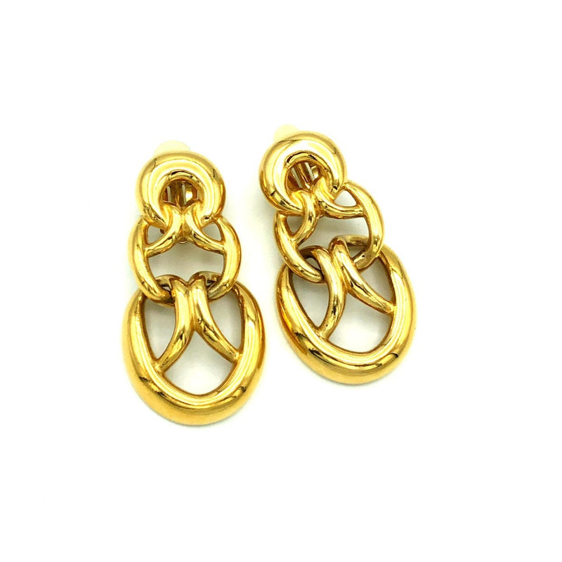 Vintage Givenchy Gold Woven Knot Earrings-Earrings-Givenchy-[trending designer jewelry]-[givenchy jewelry]-[Sustainable Fashion]