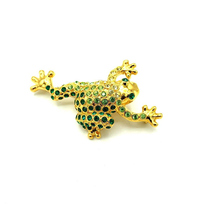 update alt-text with template Monet Green Rhinestone Frog Vintage Brooch-Brooches & Pins-Monet-[trending designer jewelry]-[monet jewelry]-[Sustainable Fashion]