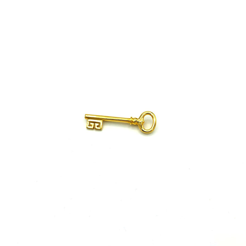 Classic Gold Givenchy Logo Key Vintage Brooch-Brooches & Pins-Givenchy-[trending designer jewelry]-[givenchy jewelry]-[Sustainable Fashion]