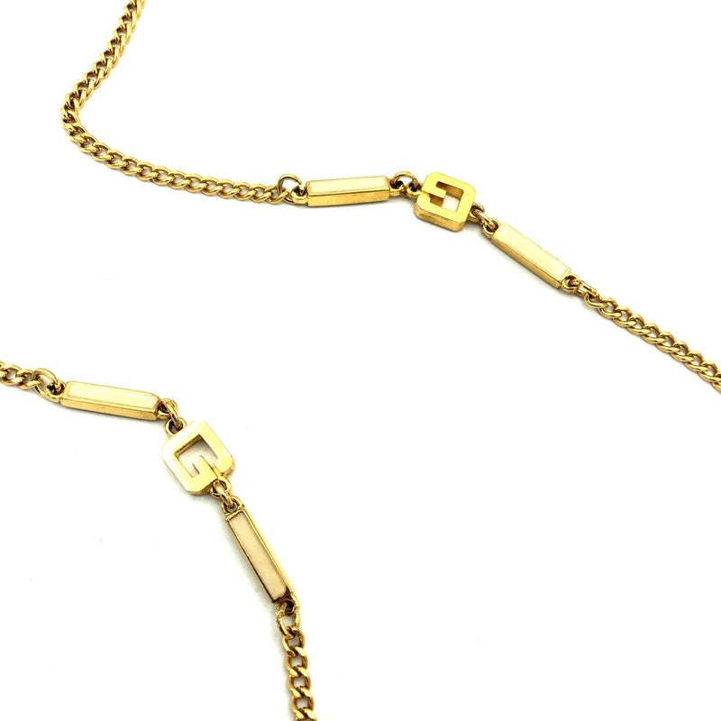 Givenchy Gold 'G' Logo Vintage Necklace-Necklaces & Pendants-Givenchy-[trending designer jewelry]-[givenchy jewelry]-[Sustainable Fashion]