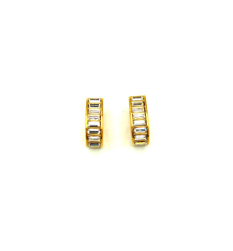 update alt-text with template Napier Gold Rhinestone Chunky Hoop Vintage Earrings-Earrings-24 Wishes-[trending designer jewelry]-[napier jewelry]-[Sustainable Fashion]