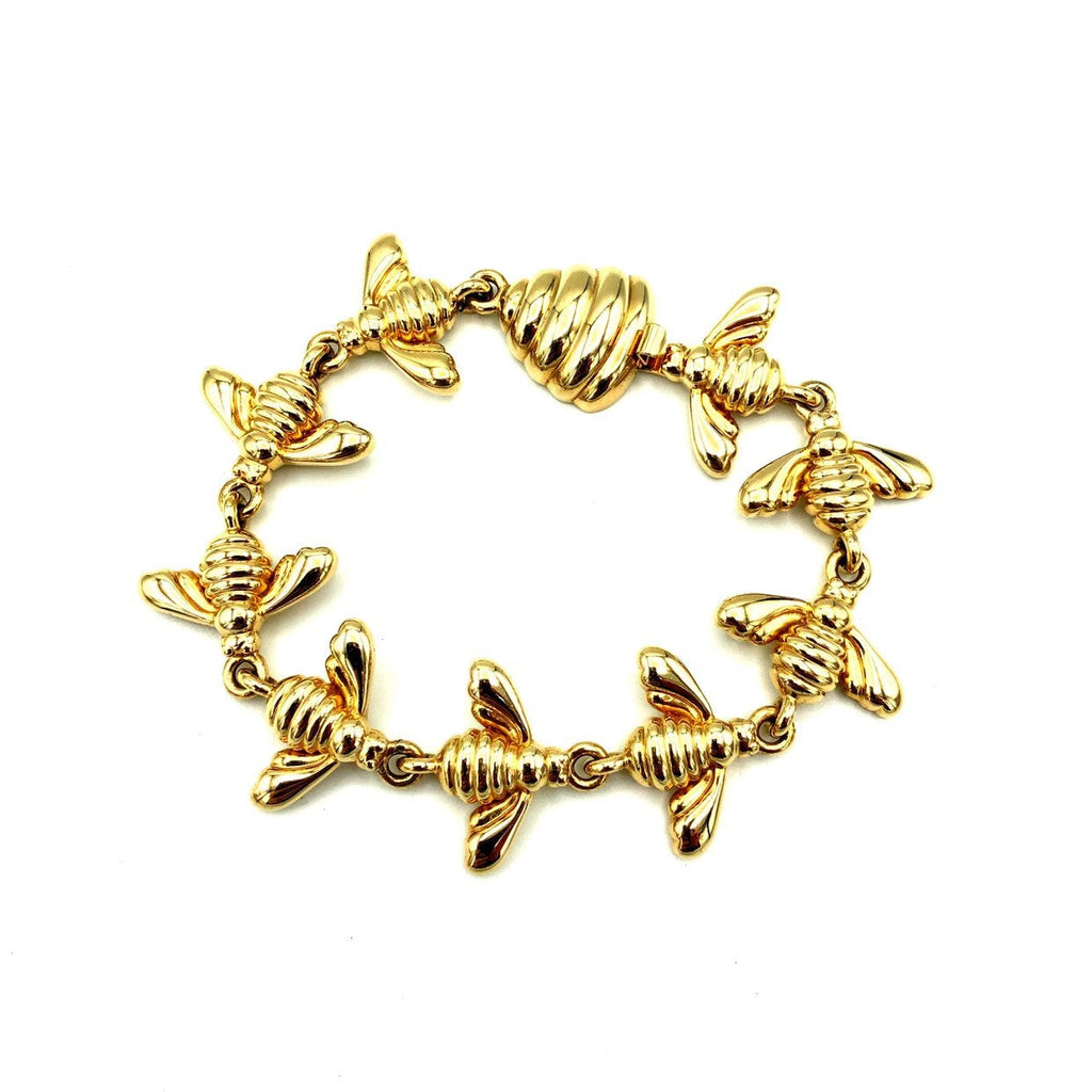 Joan Rivers Gold Bee Vintage Stacking Bracelet