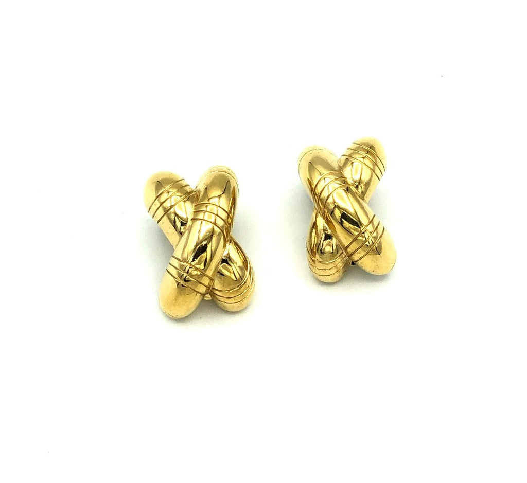 Givenchy Puffy 'X'  Vintage Earrings