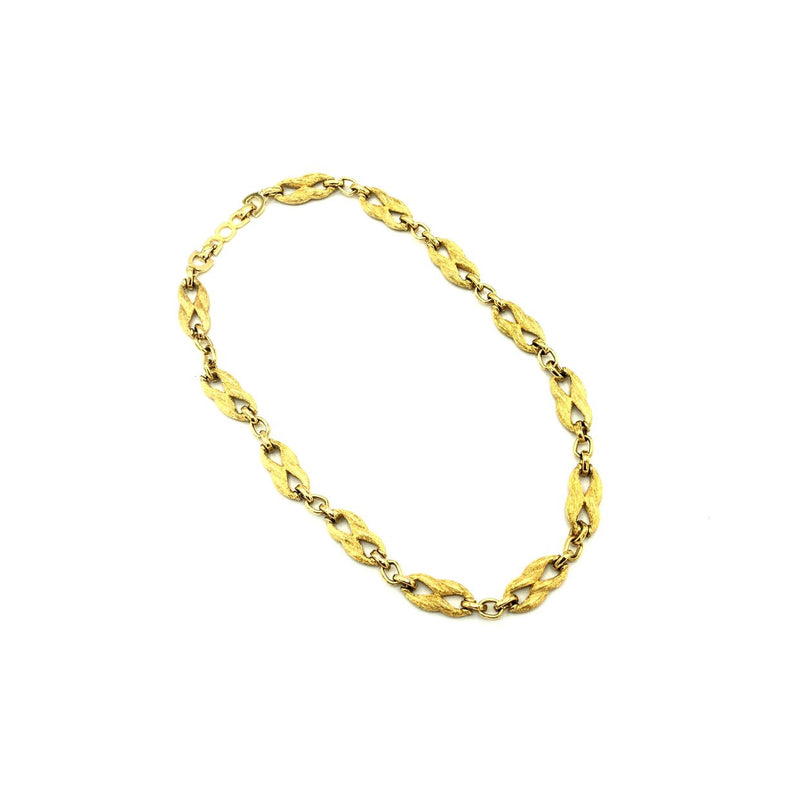 update alt-text with template Christian Dior Classic Gold Textured Link Chain Vintage Necklace-Necklaces & Pendants-Christian Dior-[trending designer jewelry]-[christian dior jewelry]-[Sustainable Fashion]