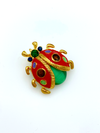 Colorful Ladybug Enamel Vintage Brooch-Sustainable Fashion with Vintage Style-Trending Designer Fashion-24 Wishes