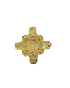 Dauplaise Maltese Cross Gold Coin Vintage Statement Brooch