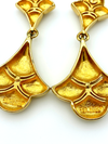 Erwin Pearl Vintage Gold Statement Dangle Earrings-Sustainable Fashion with Vintage Style-Trending Designer Fashion-24 Wishes
