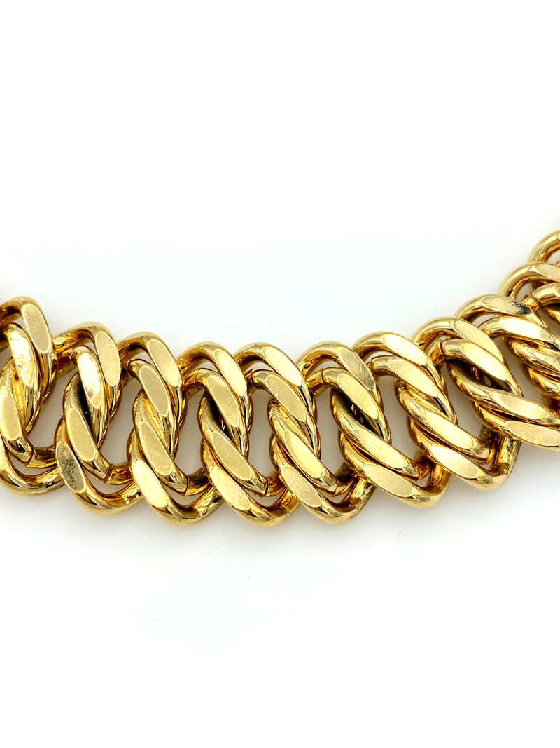 Gold Vintage Napier Wide Chain Link Layering Necklace