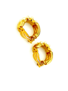 Richelieu Gold Double Row Pearl Hoop Vintage Clip-On Earrings-Sustainable Fashion with Vintage Style-Trending Designer Fashion-24 Wishes