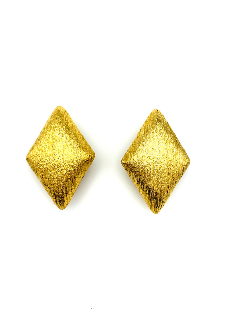 St. John Classic Gold Statement Clip-On Earrings-Sustainable Fashion with Vintage Style-Trending Designer Fashion-24 Wishes