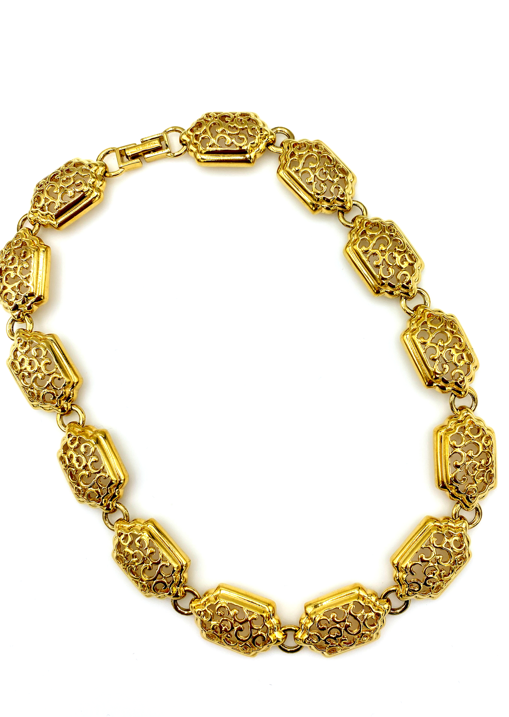 D'Orlan vintage Classic Gold Chunky Layering Necklace-Sustainable Fashion with Vintage Style-Trending Designer Fashion-24 Wishes