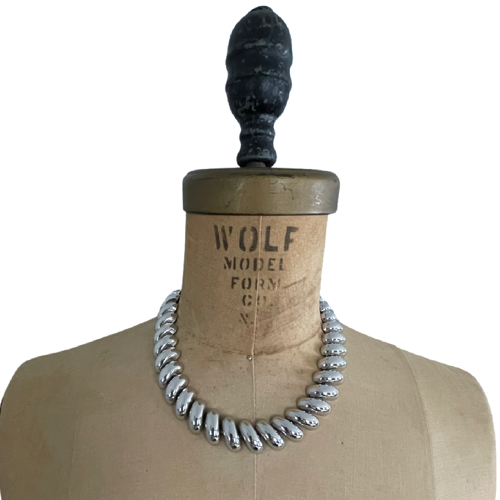 Classic Silver Vintage Napier Chunky Layering Necklace