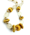 Pierre Cardin Satin Lucite Gold Beaded Statement Necklace
