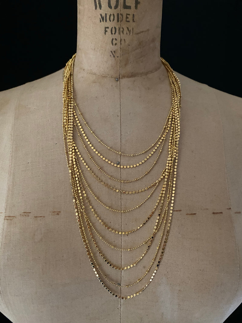 Joan Rivers Gold Layered Chains Vintage Necklace