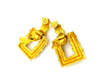 update alt-text with template Kenneth Jay Lane Gold Wrapped Door Knocker Vintage Clip-On Earrings-Earrings-Kenneth Jay Lane-[trending designer jewelry]-[kenneth jay lane KJL jewelry]-[Sustainable Fashion]