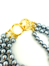 Kenneth Jay Lane Three Strand Pearl KJL Necklace