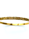 Gold Filled Danecraft Thin Floral Vintage Bangle Bracelet-Sustainable Fashion with Vintage Style-Trending Designer Fashion-24 Wishes