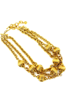 Givenchy Gold Layered Chain & Bead Vintage Pendant