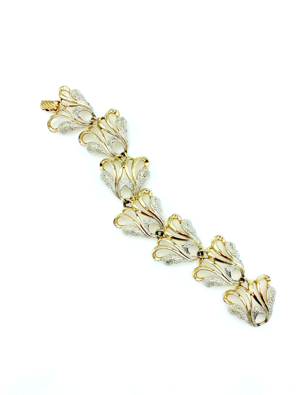 Sarah Coventry Gold & Silver Statement Bracelet-Sustainable Fashion with Vintage Style-Trending Designer Fashion-24 Wishes