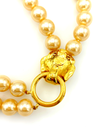 Kenneth Jay Lane Double Strand Cream Pearl Lion Pendant