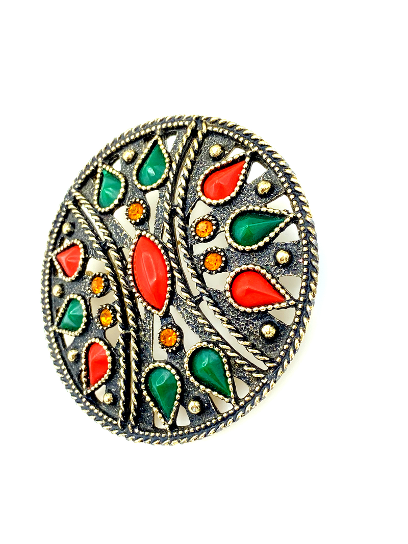 Emmons Large Boho Statement Vintage Brooch / Pendant-Sustainable Fashion with Vintage Style-Trending Designer Fashion-24 Wishes