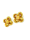 Classic Givenchy Gold Bow Logo Vintage Earrings-Earrings-Givenchy-[trending designer jewelry]-[givenchy jewelry]-[Sustainable Fashion]