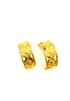 Givenchy Gold Geometric Half Hoop Vintage Clip On Earrings-Earrings-Givenchy-[trending designer jewelry]-[givenchy jewelry]-[Sustainable Fashion]