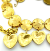 Gold Heart Charm Chain Vintage Etruscan Statement Belt