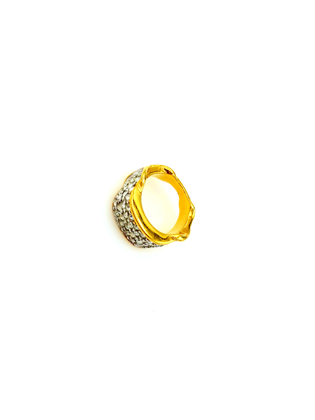 Elizabeth Taylor Brilliance Gold Pave Vintage Ring-Sustainable Fashion with Vintage Style-Trending Designer Fashion-24 Wishes