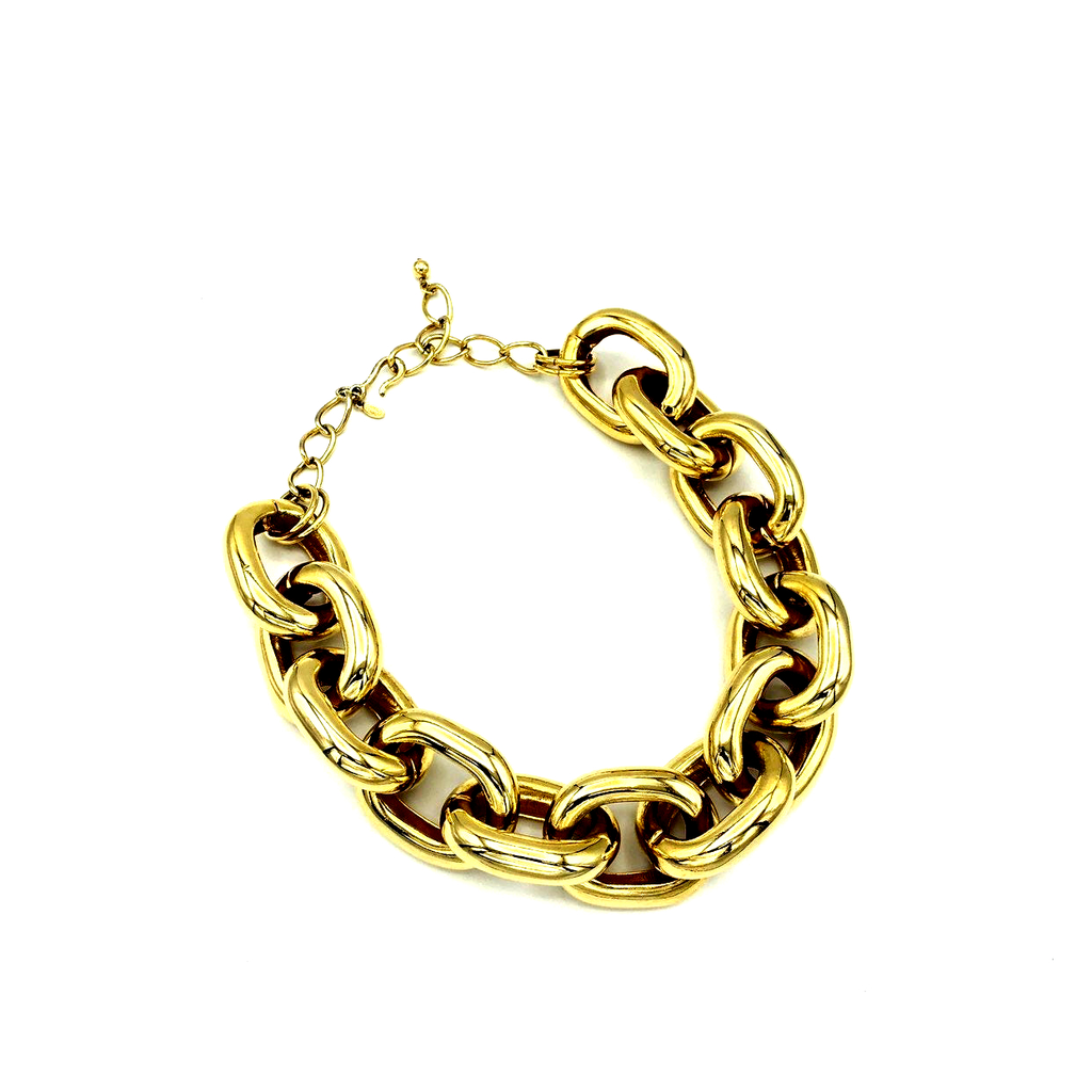 Kenneth Jay Lane Large Link Gold Vintage Chain-Sustainable Fashion with Vintage Style-Trending Designer Fashion-24 Wishes