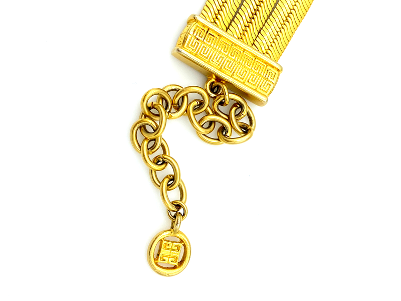 Givenchy Matt Gold Flat Link Chain Stacking Bracelet-Bracelets-Givenchy-[trending designer jewelry]-[givenchy jewelry]-[Sustainable Fashion]
