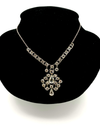 Art Deco White Gold Filled Crystal Statement Bridal Vintage Necklace
