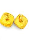 Kenneth Jay Lane Gold Chunky Blue Clip-On Earrings