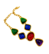 Kenneth Jay Lane Jewel Color Gold Pendant