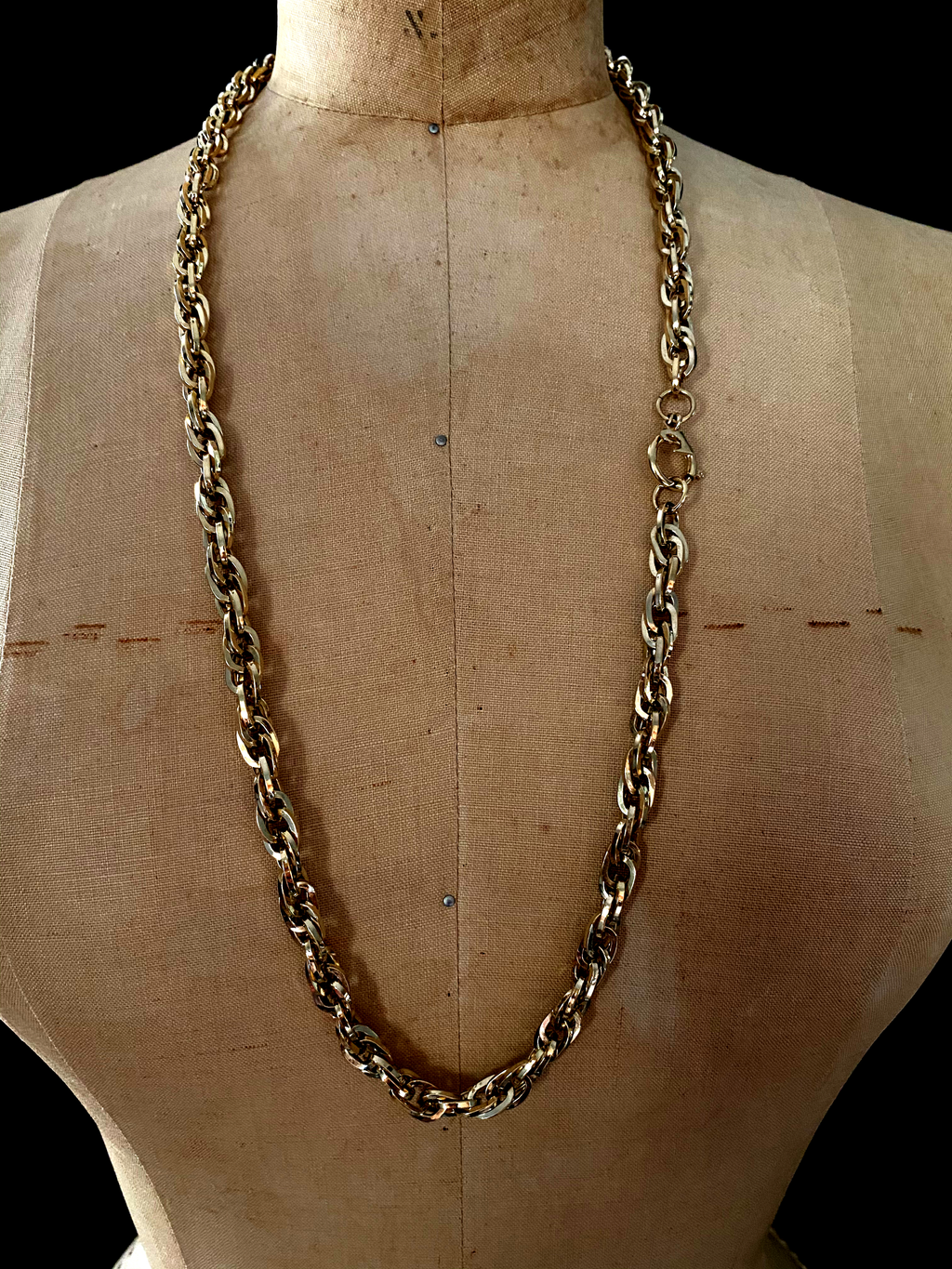 Pierre Cardin Gold Long Layering Chain Vintage Necklace