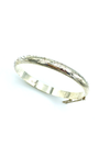 Sterling Silver Etched Hinged Vintage Bangle Bracelet