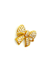 Gold Swarovski Petite Pave Bow Rhinestone Brooch-Sustainable Fashion with Vintage Style-Trending Designer Fashion-24 Wishes