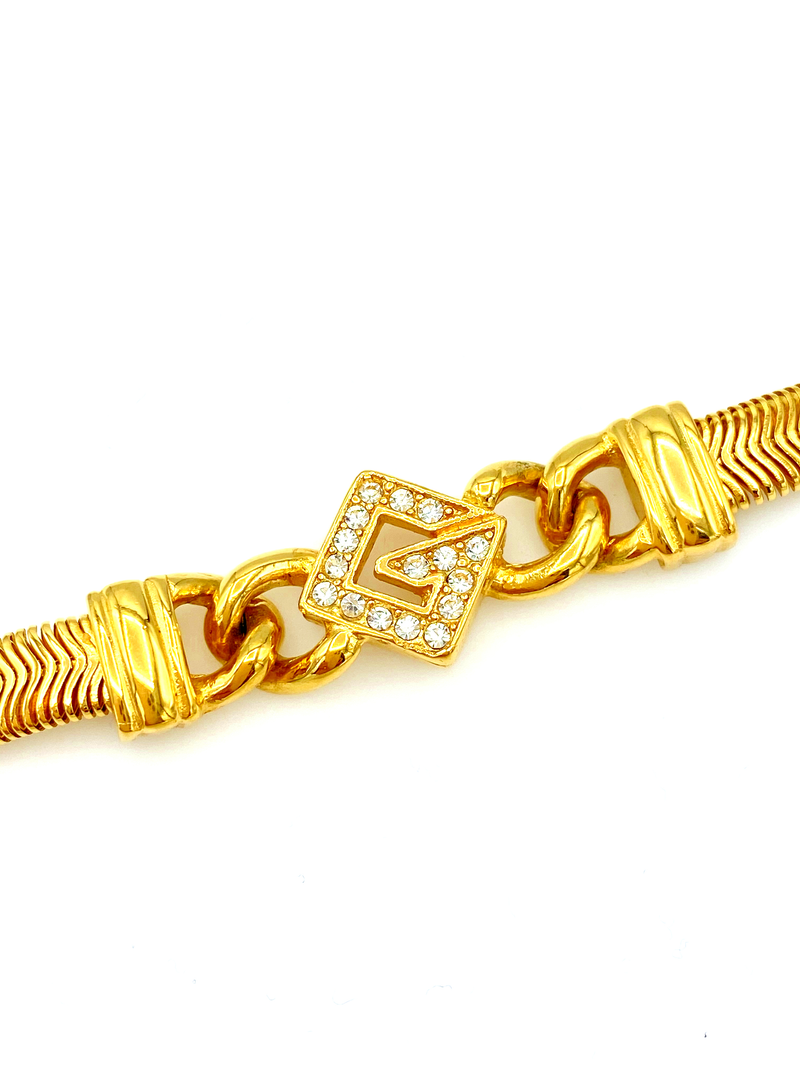 Givenchy G Rhinestone Logo Stacking Chain Bracelet-Bracelets-Givenchy-[trending designer jewelry]-[givenchy jewelry]-[Sustainable Fashion]