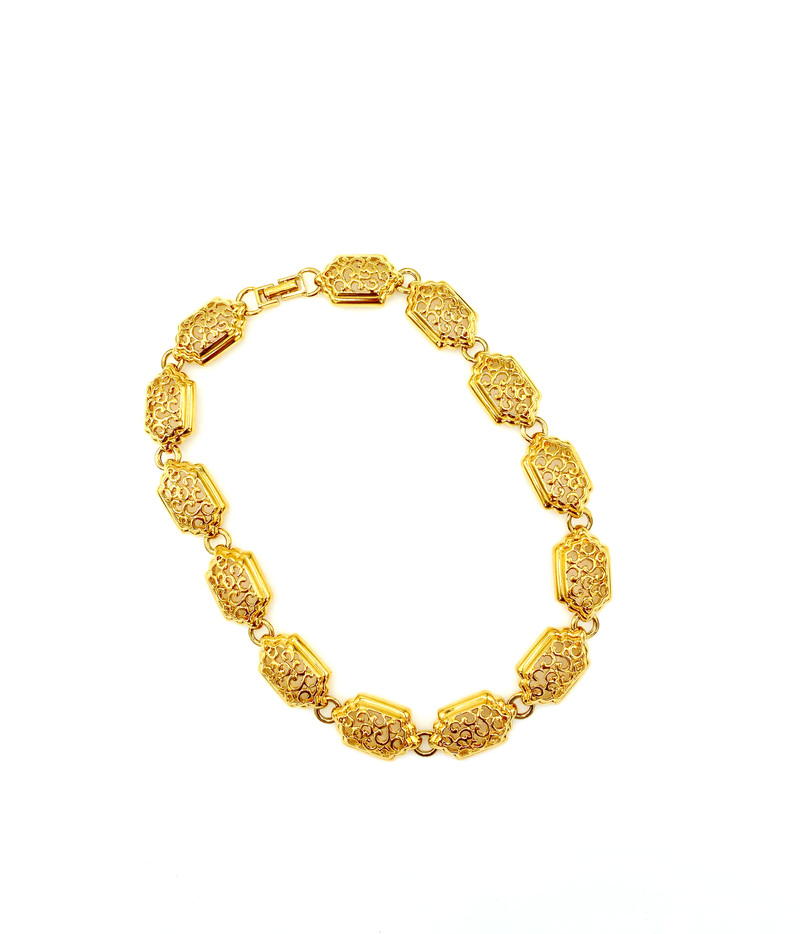 D'Orlan vintage Classic Gold Chunky Layering Necklace