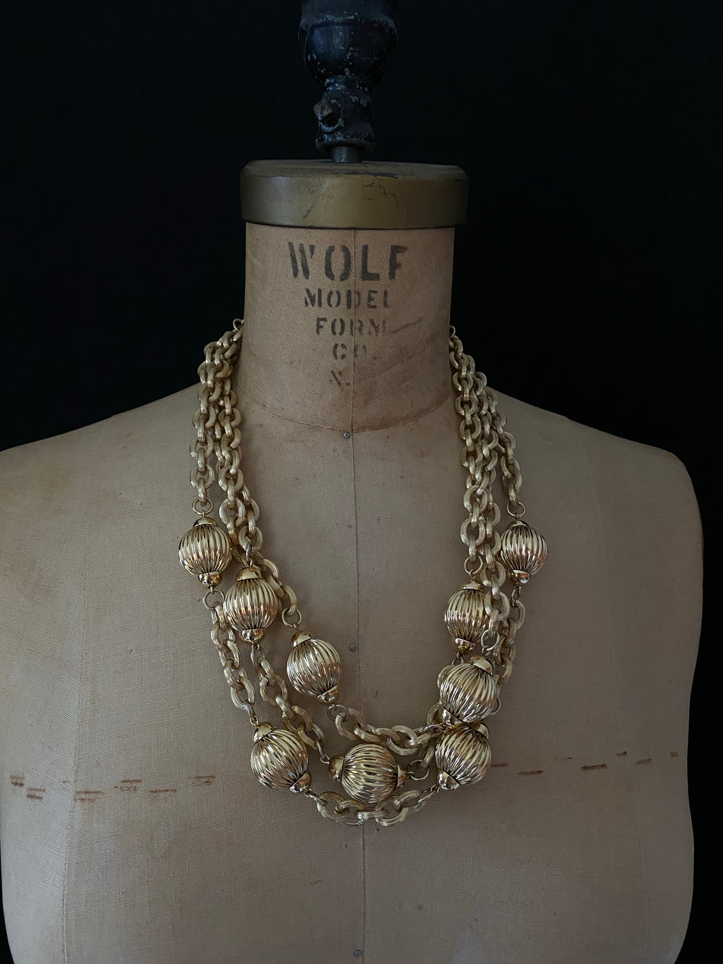 Givenchy Gold Layered Chain & Bead Vintage Pendant-Sustainable Fashion with Vintage Style-Trending Designer Fashion-24 Wishes